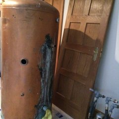 Removal of a leaking copper cylinder