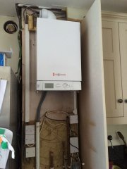 Starting an installation of a boiler